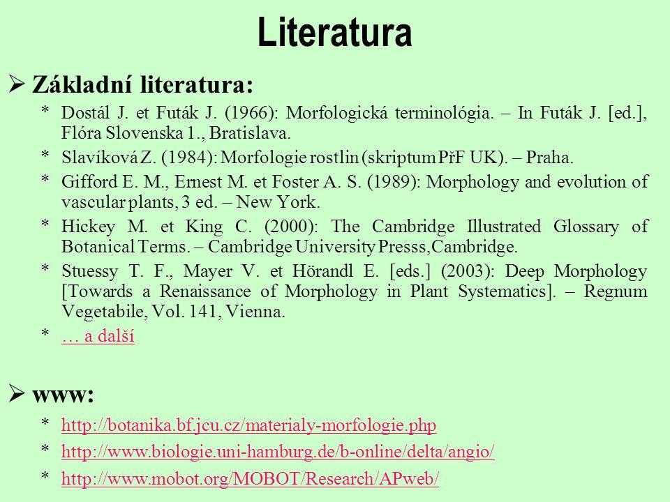 Literatura Základní literatura: www: