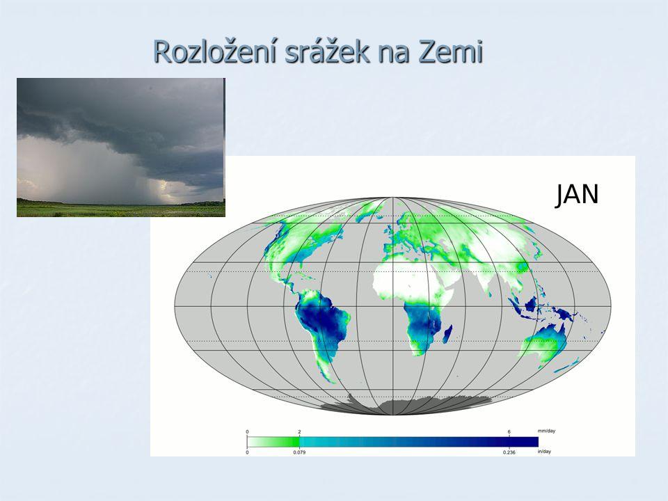 Rozložení srážek na Zemi