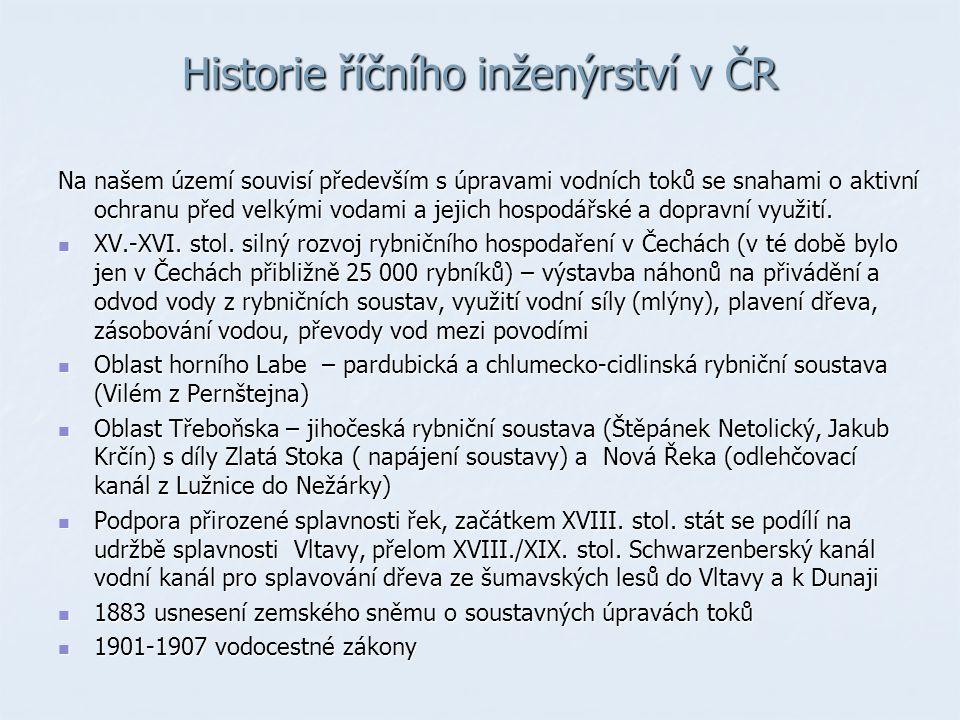 Historie říčního inženýrství v ČR