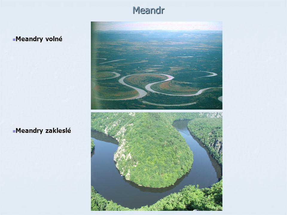 Meandr Meandry volné Meandry zakleslé