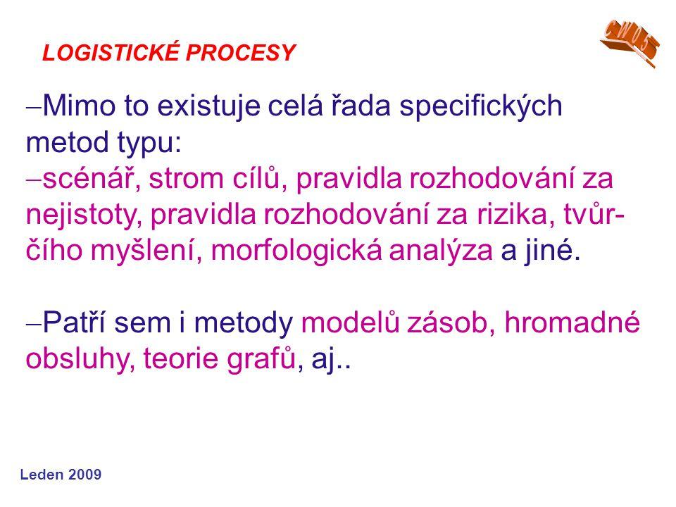 Mimo to existuje celá řada specifických metod typu: