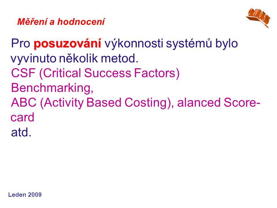 Pro posuzování výkonnosti systémů bylo vyvinuto několik metod.