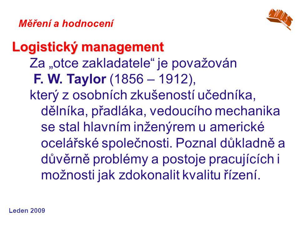 """Logistický management Za """"otce zakladatele je považován"""