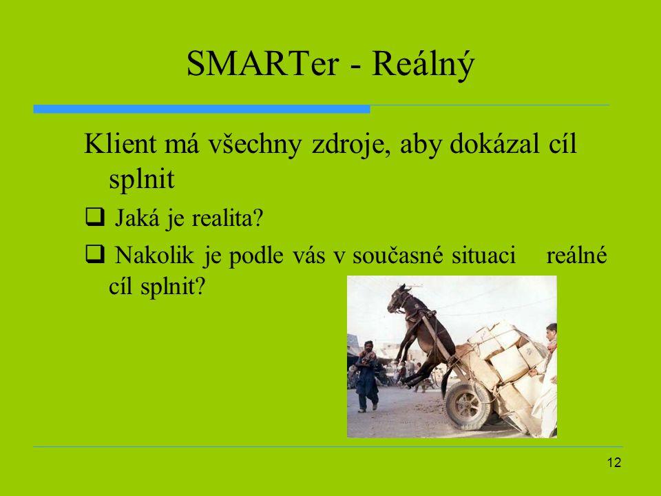 SMARTer - Reálný Klient má všechny zdroje, aby dokázal cíl splnit