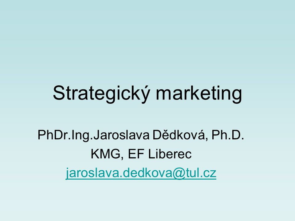 Strategický marketing