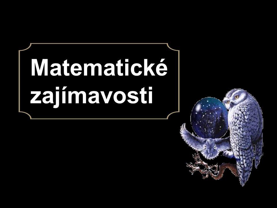 Matematické zajímavosti