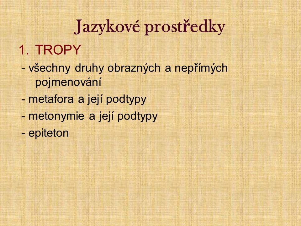 Jazykové prostředky TROPY
