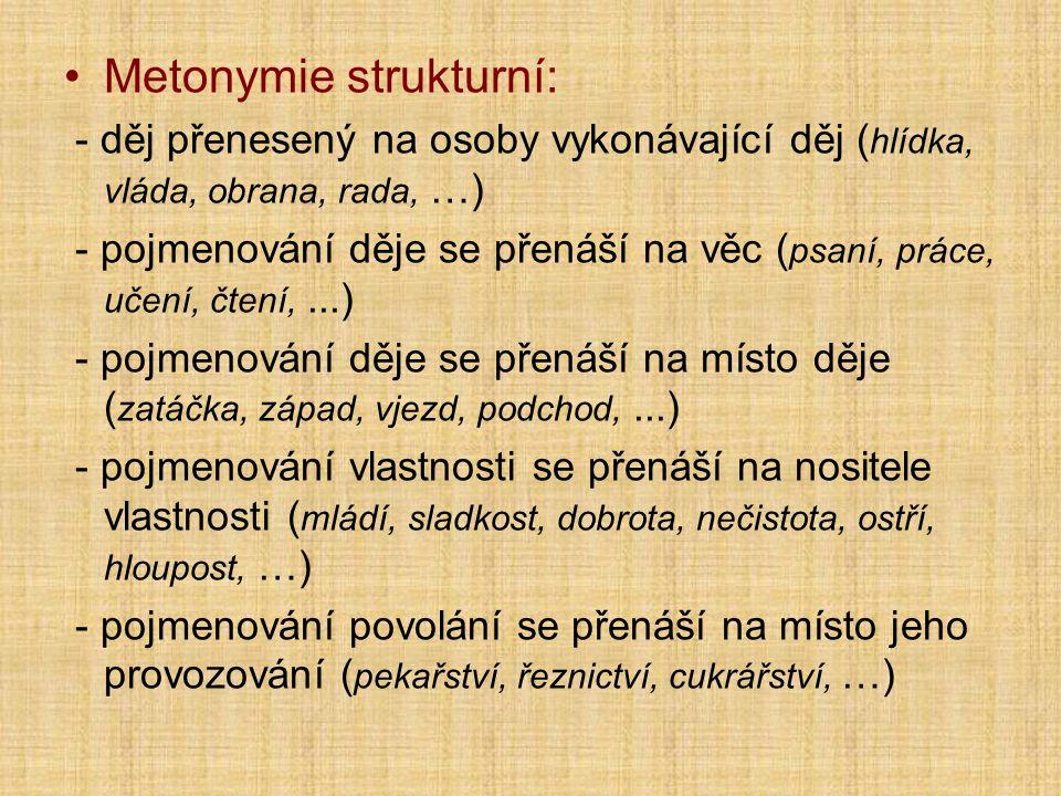 Metonymie strukturní:
