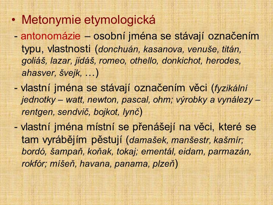 Metonymie etymologická