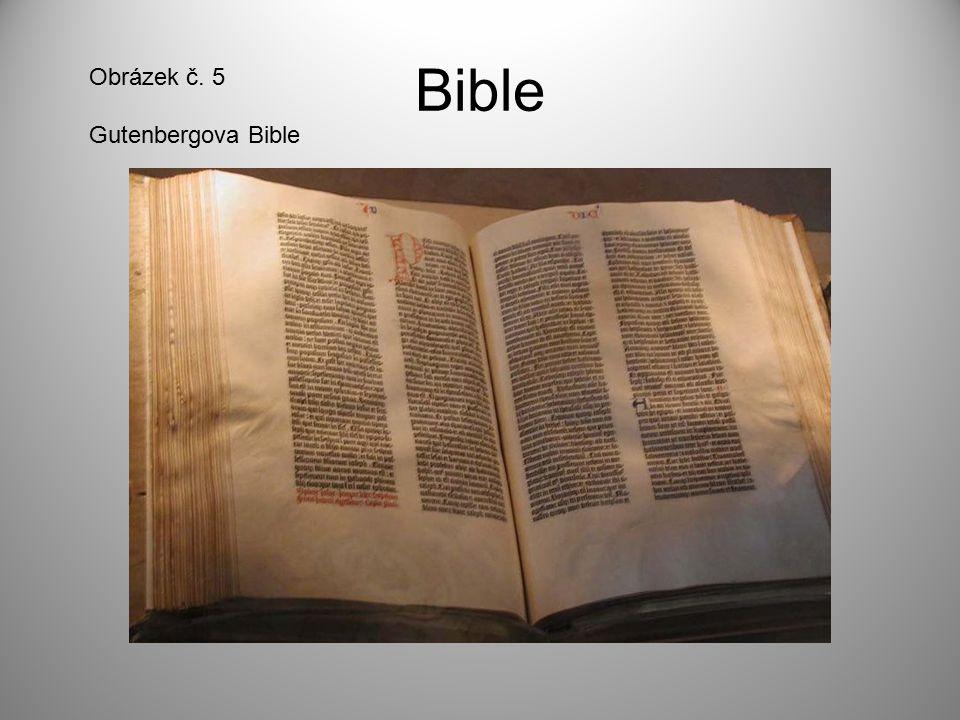 Bible Obrázek č. 5 Gutenbergova Bible