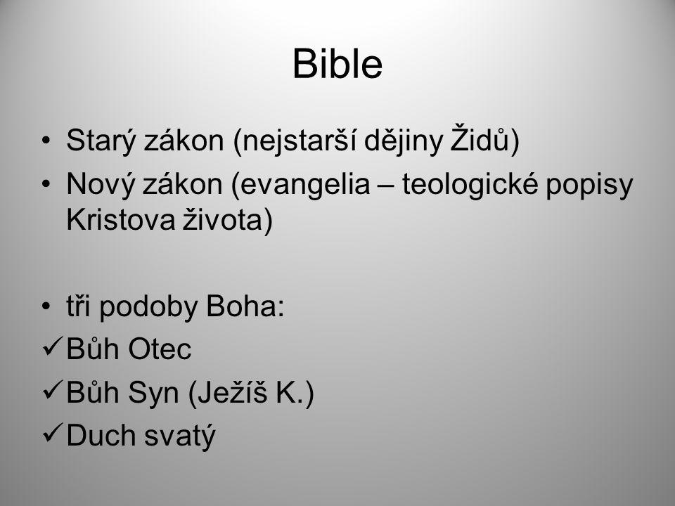 Bible Starý zákon (nejstarší dějiny Židů)