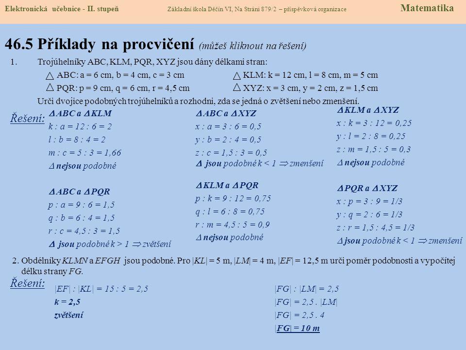 46.5 Příklady na procvičení (můžeš kliknout na řešení)