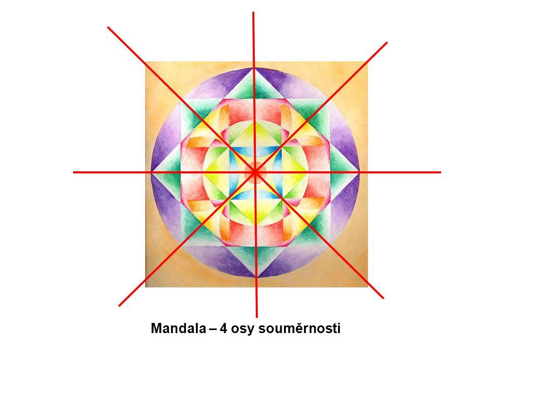Mandala – 4 osy souměrnosti