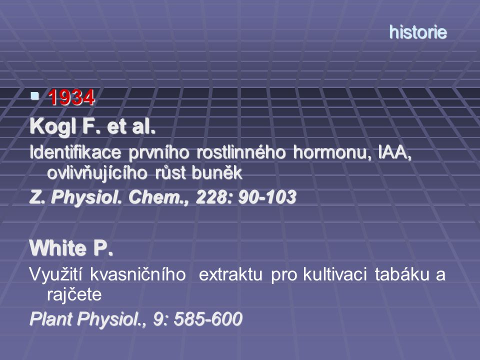 1934 Kogl F. et al. White P. historie