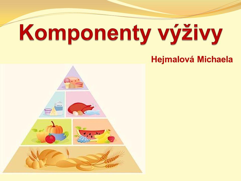 Komponenty výživy Hejmalová Michaela
