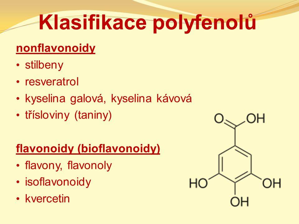 Klasifikace polyfenolů