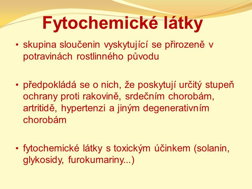 Fytochemické látky skupina sloučenin vyskytující se přirozeně v potravinách rostlinného původu.