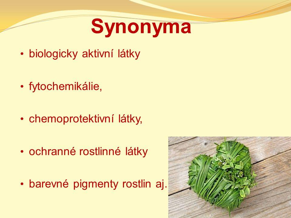 Synonyma biologicky aktivní látky fytochemikálie,