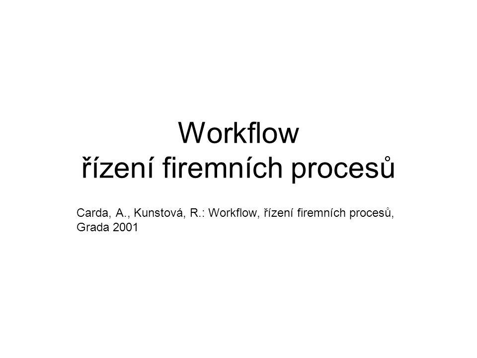 Workflow řízení firemních procesů