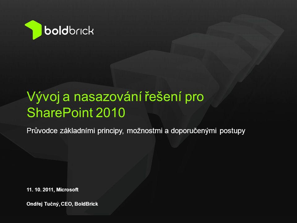 Vývoj a nasazování řešení pro SharePoint 2010