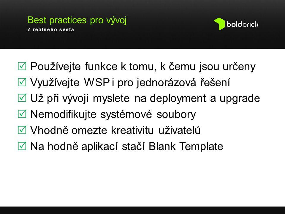 Best practices pro vývoj