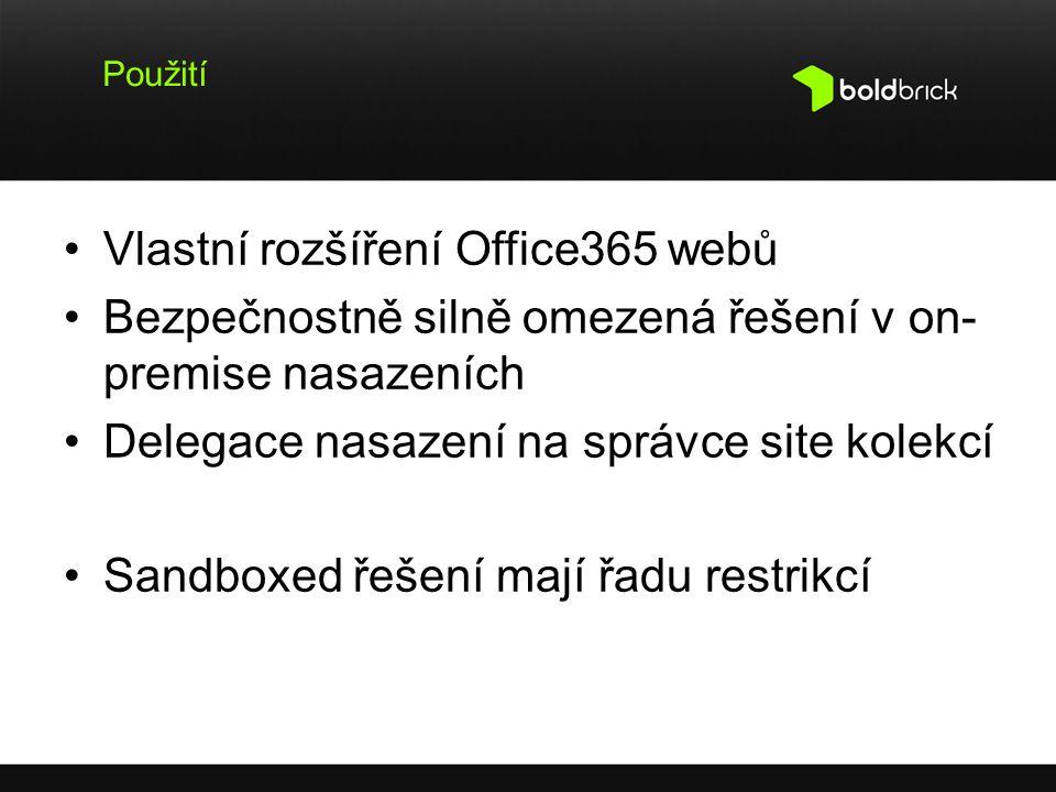 Vlastní rozšíření Office365 webů