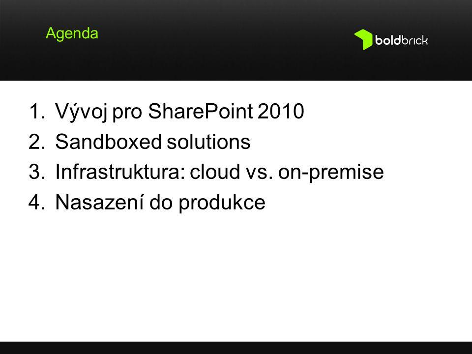 Infrastruktura: cloud vs. on-premise Nasazení do produkce