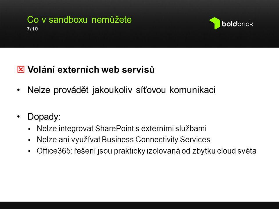  Volání externích web servisů