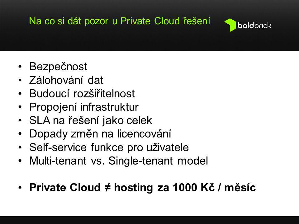 Na co si dát pozor u Private Cloud řešení