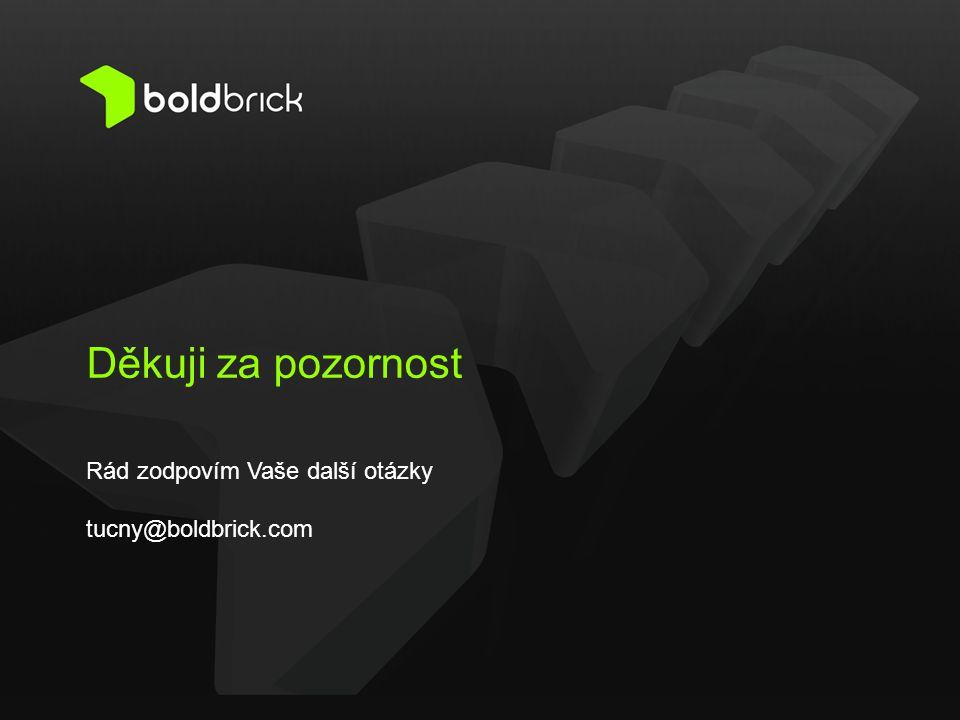 Rád zodpovím Vaše další otázky tucny@boldbrick.com