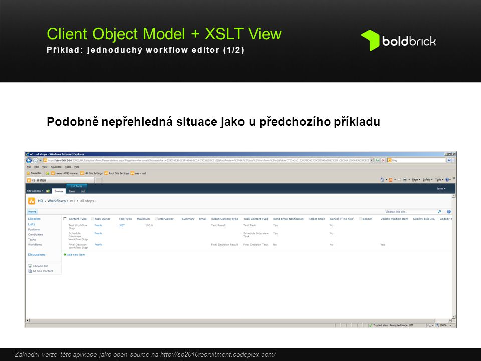 Client Object Model + XSLT View