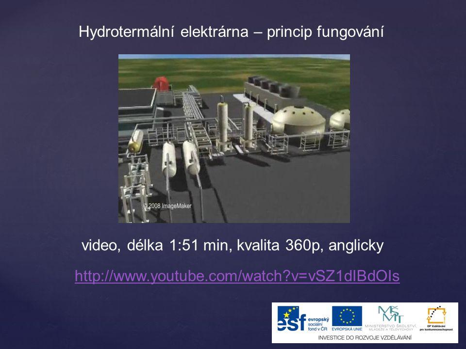 Hydrotermální elektrárna – princip fungování