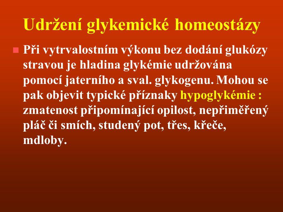 Udržení glykemické homeostázy