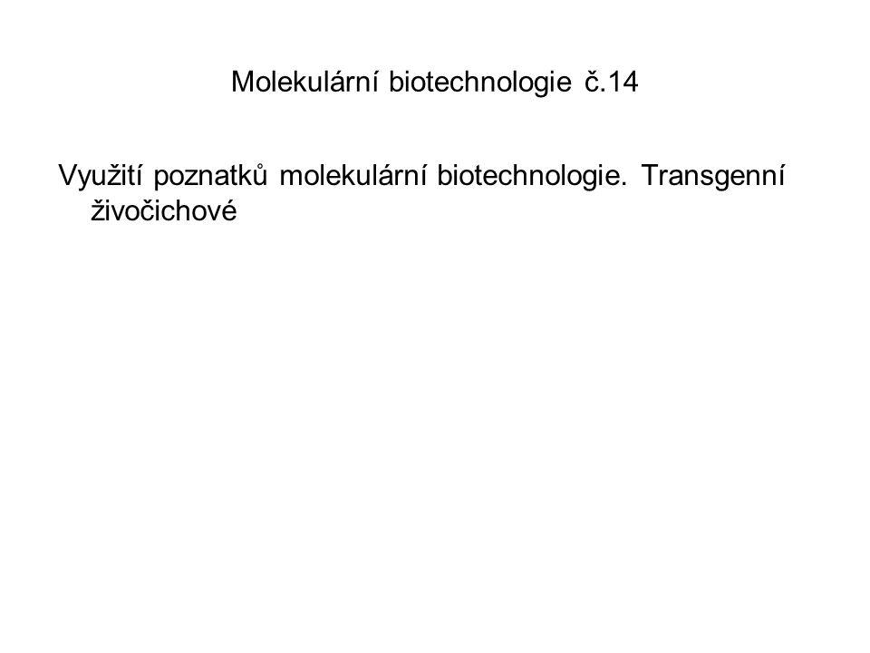 Molekulární biotechnologie č.14