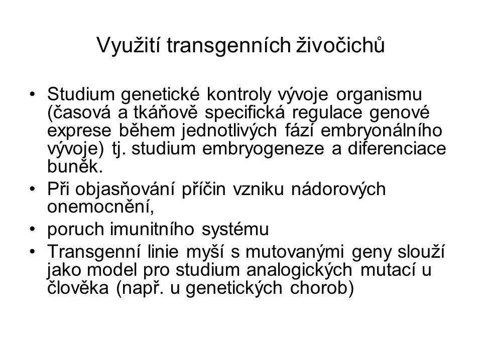 Využití transgenních živočichů