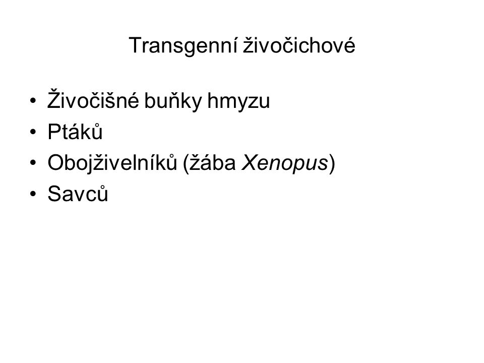 Transgenní živočichové
