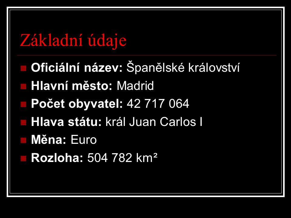 Základní údaje Oficiální název: Španělské království