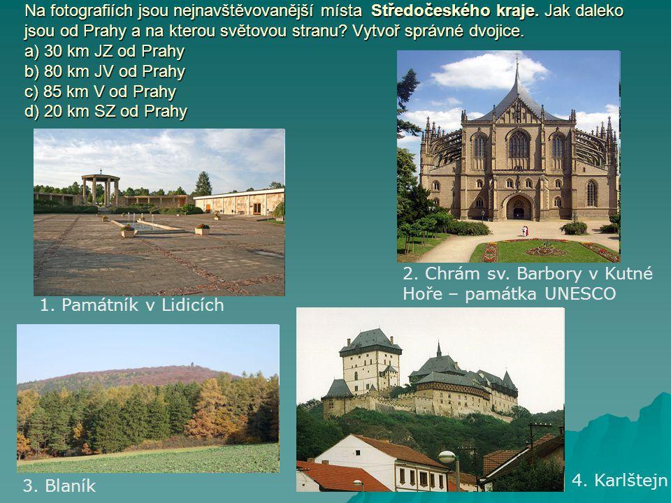 Na fotografiích jsou nejnavštěvovanější místa Středočeského kraje