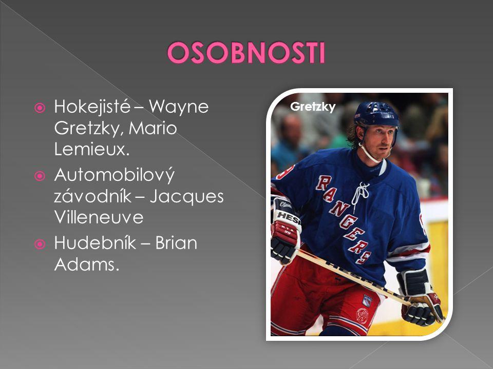 OSOBNOSTI Hokejisté – Wayne Gretzky, Mario Lemieux.
