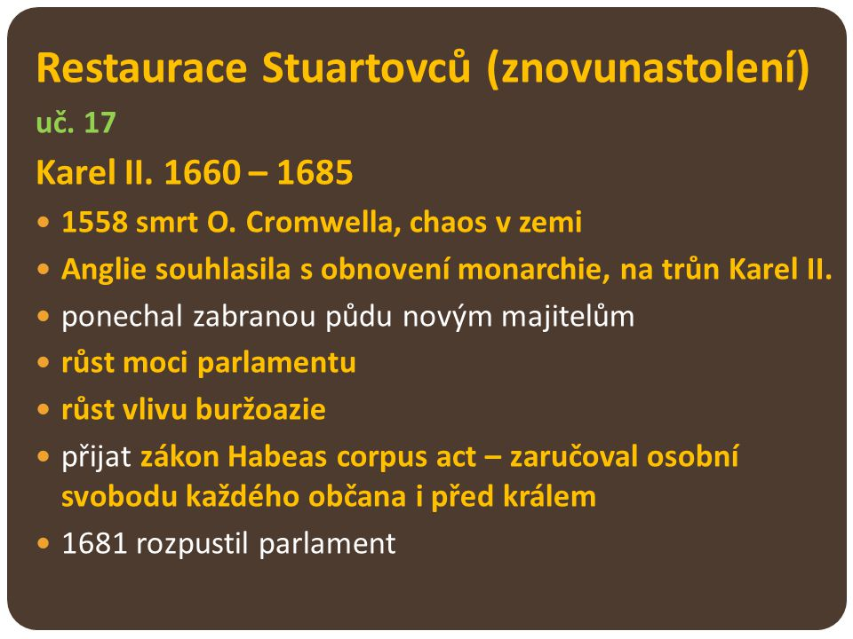 Restaurace Stuartovců (znovunastolení)