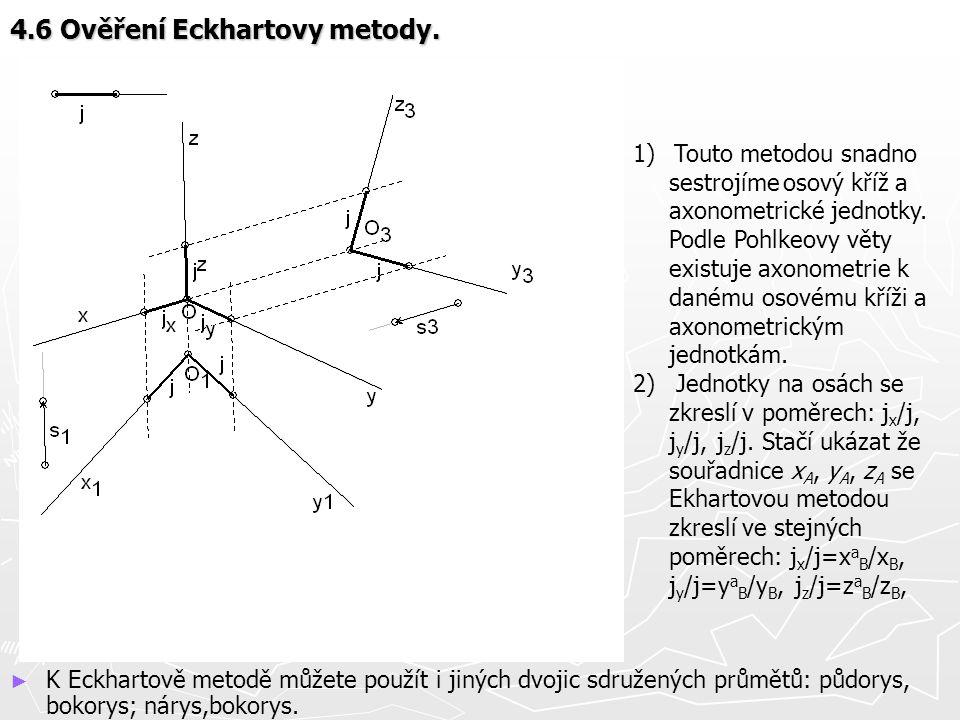 4.6 Ověření Eckhartovy metody.
