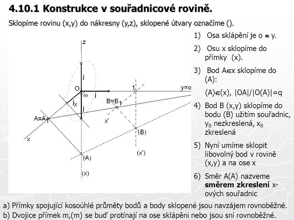 4.10.1 Konstrukce v souřadnicové rovině.