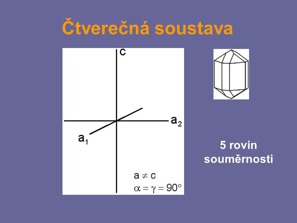 Čtverečná soustava 5 rovin souměrnosti