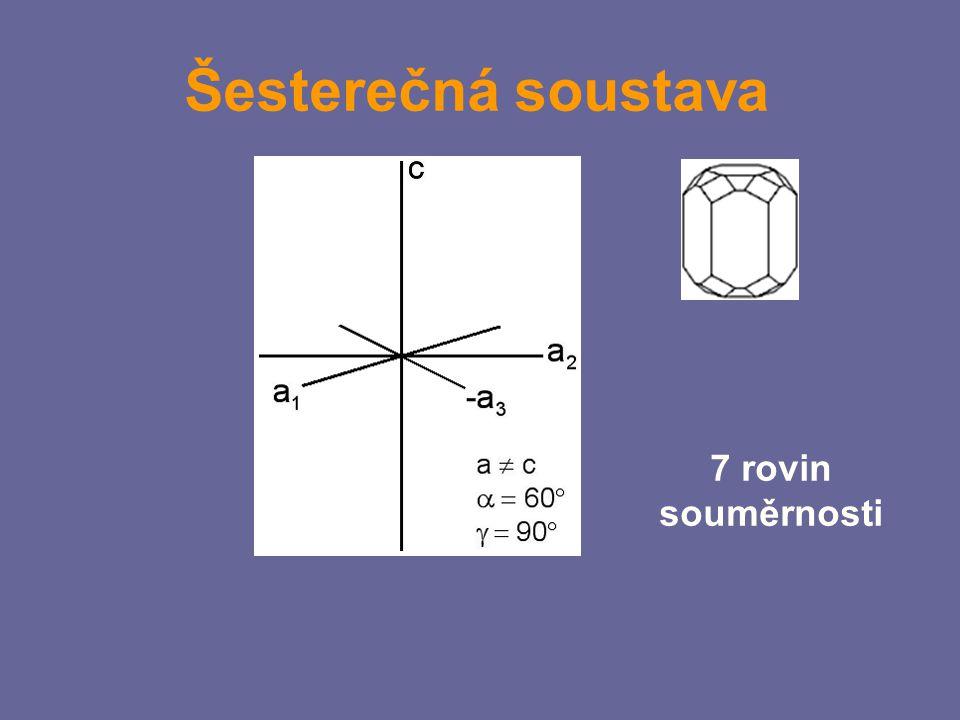 Šesterečná soustava 7 rovin souměrnosti