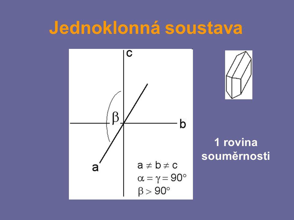 Jednoklonná soustava 1 rovina souměrnosti