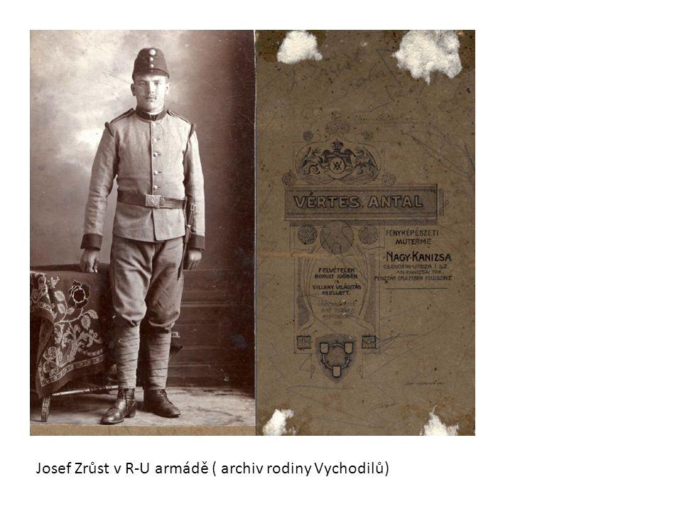 Josef Zrůst v R-U armádě ( archiv rodiny Vychodilů)