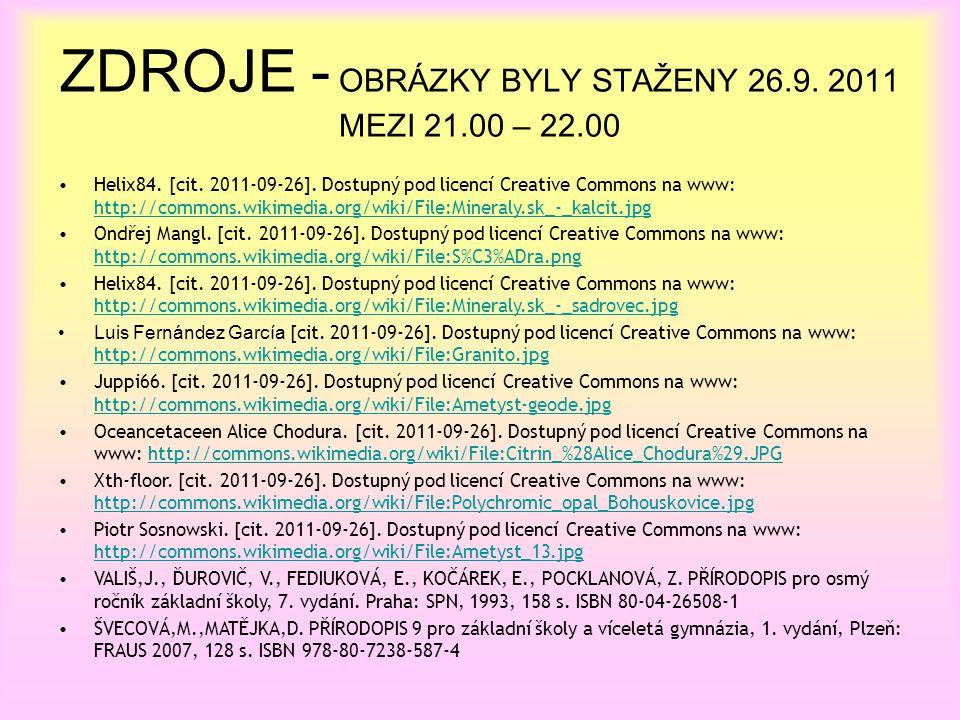 ZDROJE - OBRÁZKY BYLY STAŽENY 26.9. 2011 MEZI 21.00 – 22.00