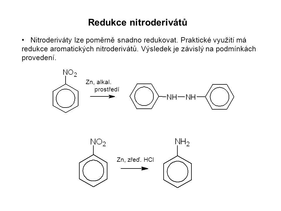 Redukce nitroderivátů