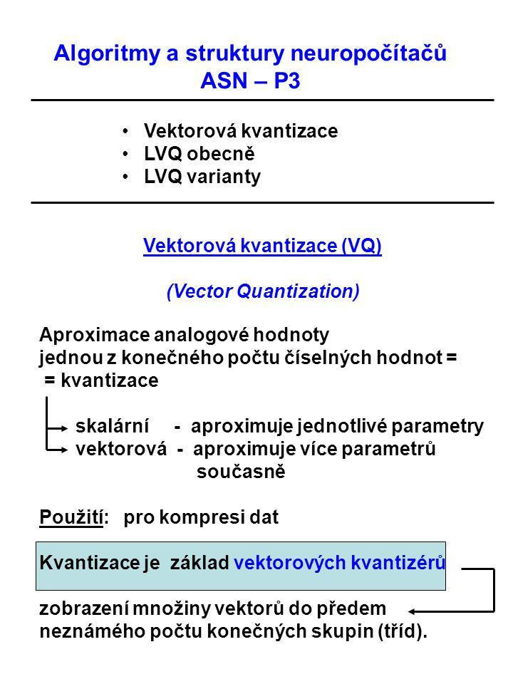 Vektorová kvantizace (VQ) (Vector Quantization)