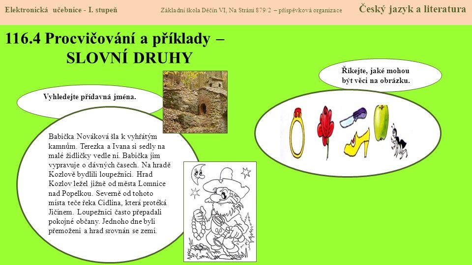 116.4 Procvičování a příklady – SLOVNÍ DRUHY